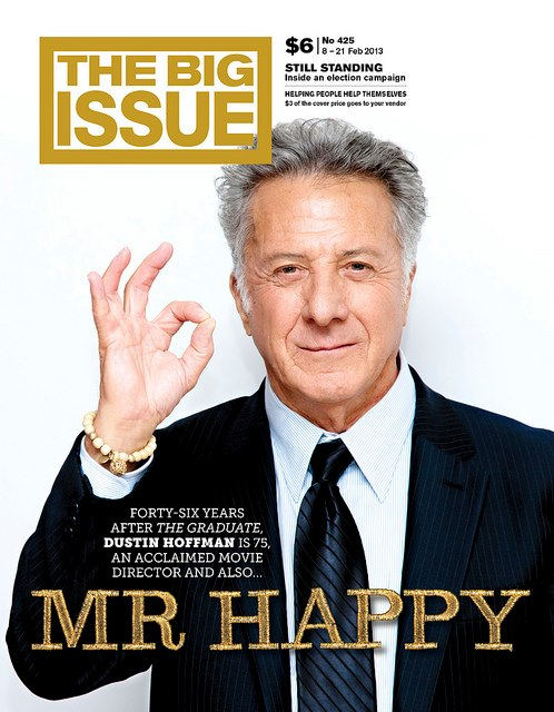 <br>The Big Issue in the UK's Dustin Hoffman article in Australia