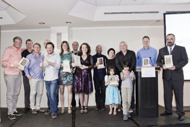 2013: Winners from the fourth INSP Awards, held in Munich, Germany. Photo by Stephanie Dillig.<br>