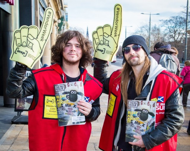 <br>Dundee's The View sold copies of The Big Issue in Edinburgh for #VendorWeek