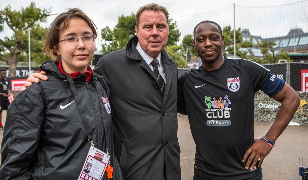 Harry Redknapp with England players at HWC in Amsterdam. Photo: Alex Walker