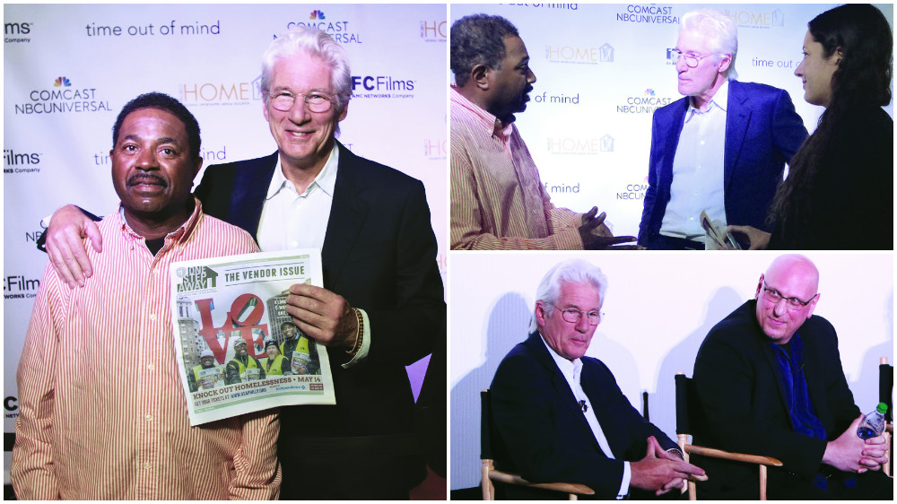 Richard Gere meets One Step Away vendor Jerry Tucker and director Emily Taylor