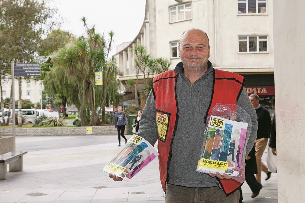 Big Issue vendor Paul Squires. Photo: Charlie Zinn