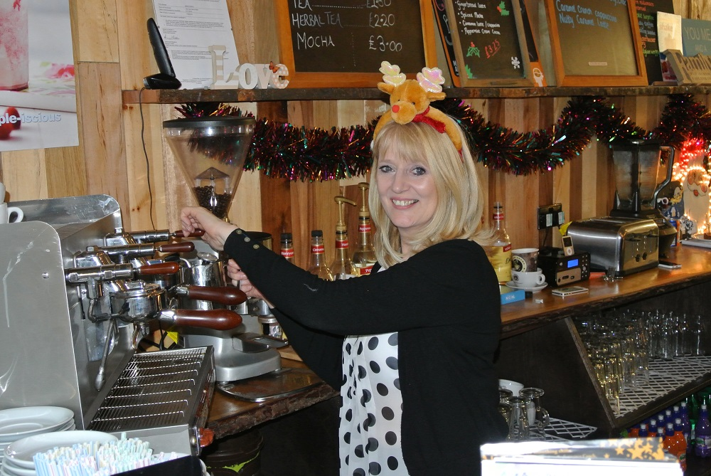 Gail at work in Jollytots & Cookies in Uddingston, Glasgow