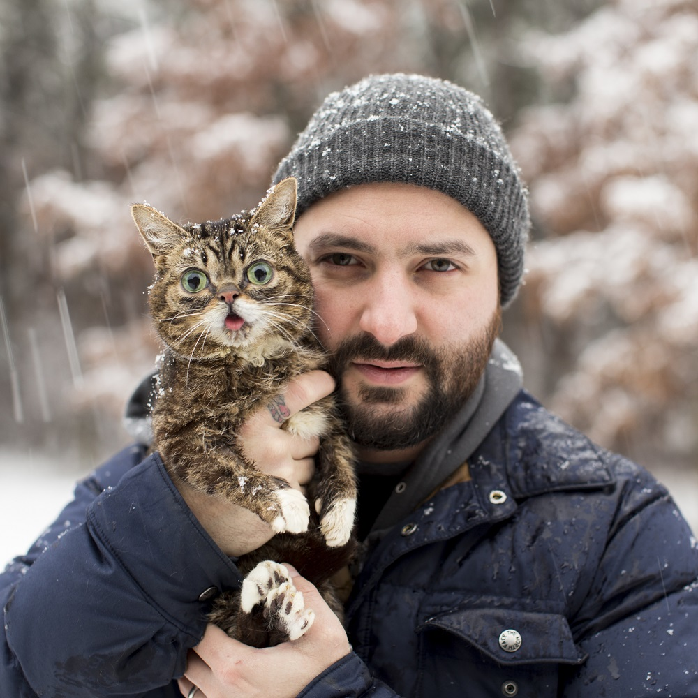 Mike and BUB in the snow