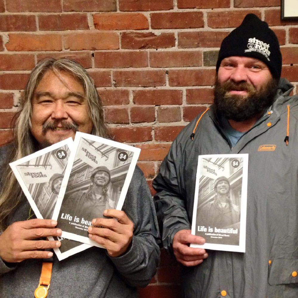 Street Roots vendor Dan Newth (pictured right) says sales have increased since the paper went weekly.