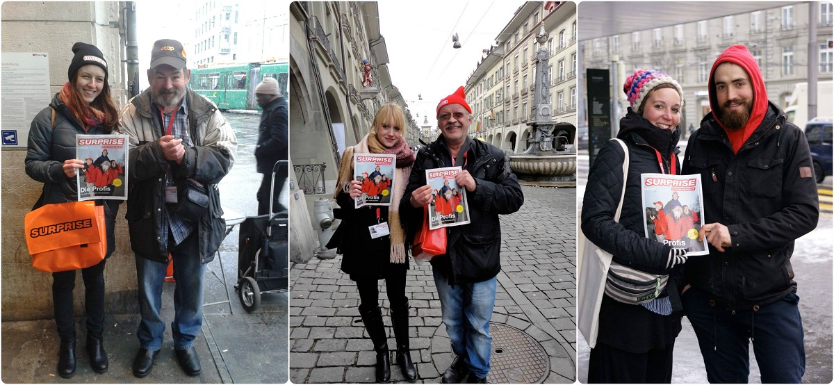 Surprise readers swap roles with their local vendor to support #VendorWeek in Bern, Switzerland 2015.