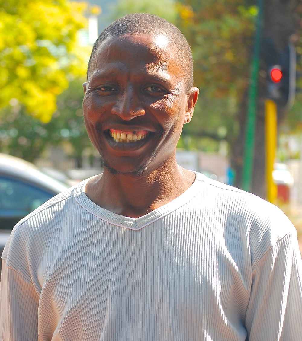Xolani sells the Big Issue South Africa in Cape Town