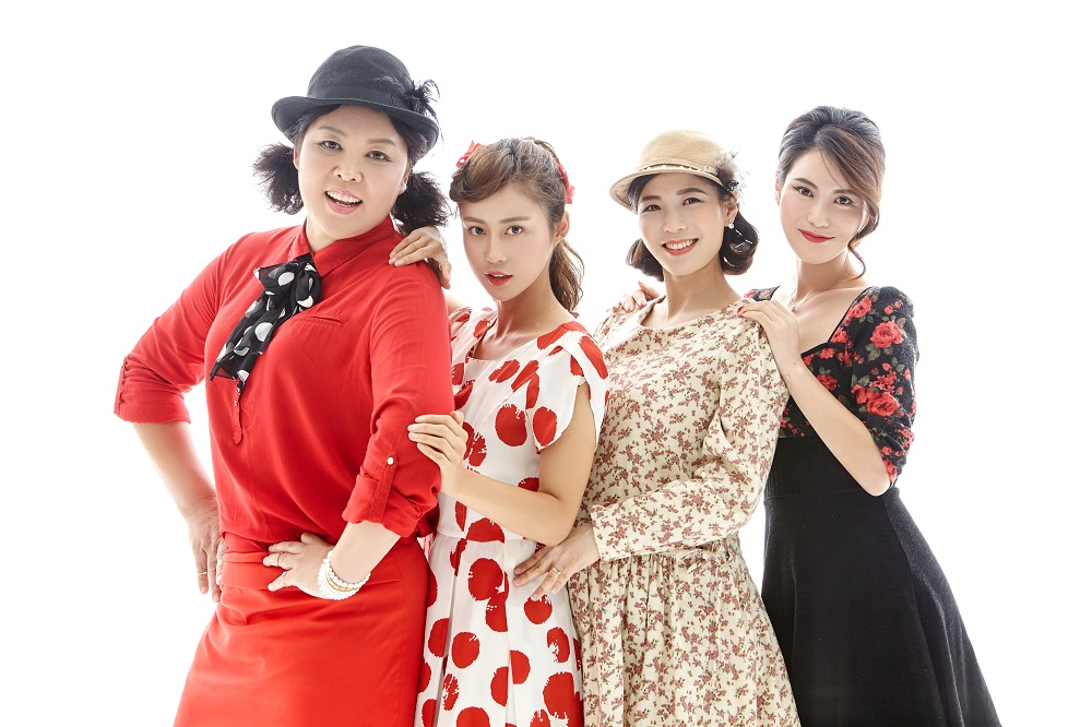 Former military officer Soon-shil Lee, Ara Kim and sisters Eunhee Shin and Eunha Shin pose for a photo shoot by The Big Issue Korea. Photo: Junghyuk Shin