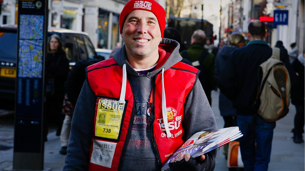 Big Issue vendor Andre Rostant. Photo: Tom Palmer