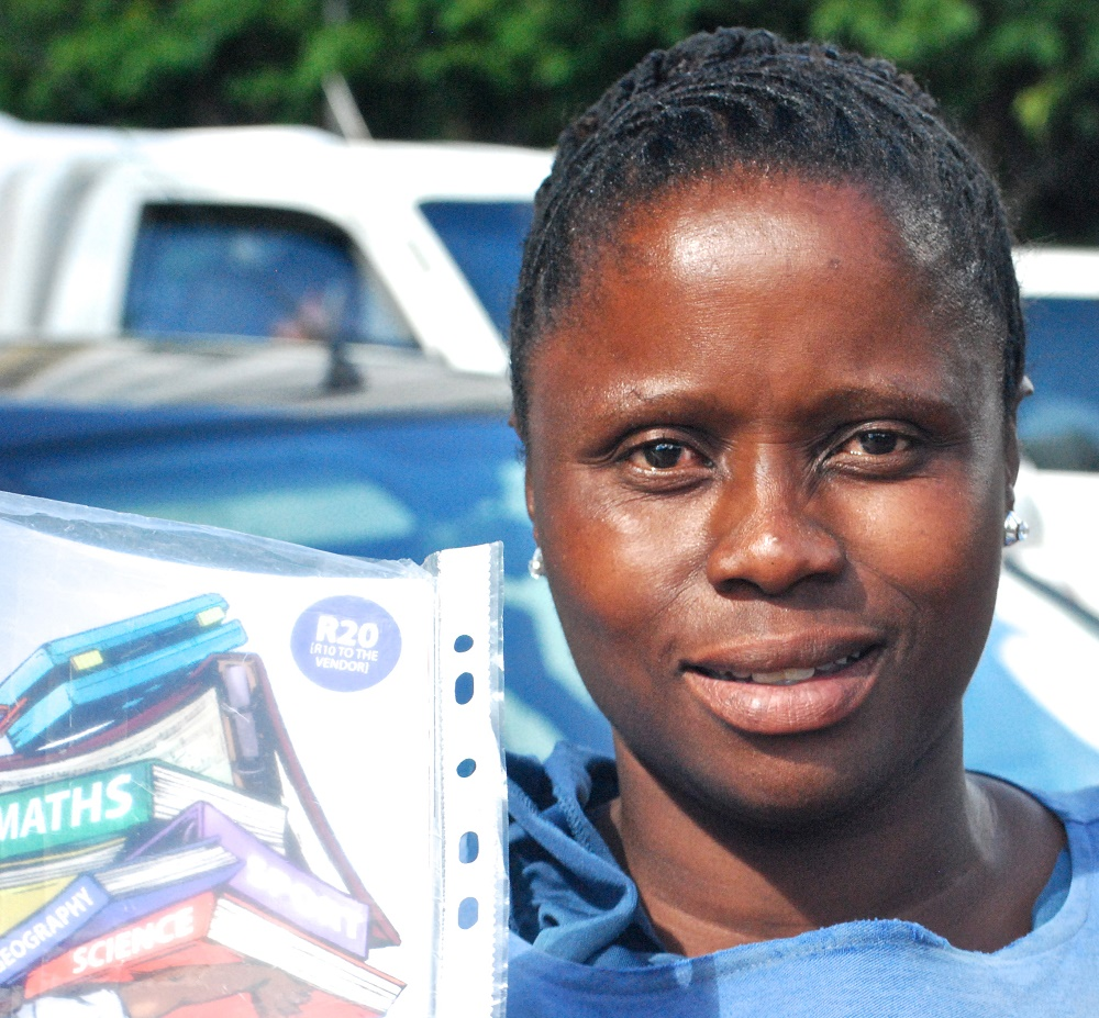 Nobambo sells The Big Issue South Africa in Cape Town.
