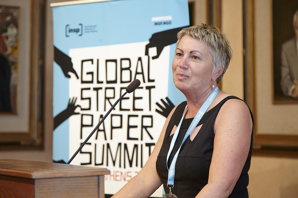 Fay Selvan is CEO, Big Life Group – publisher of Big Issue North – and chair of INSP board. Credit: Giannis Zindrilis