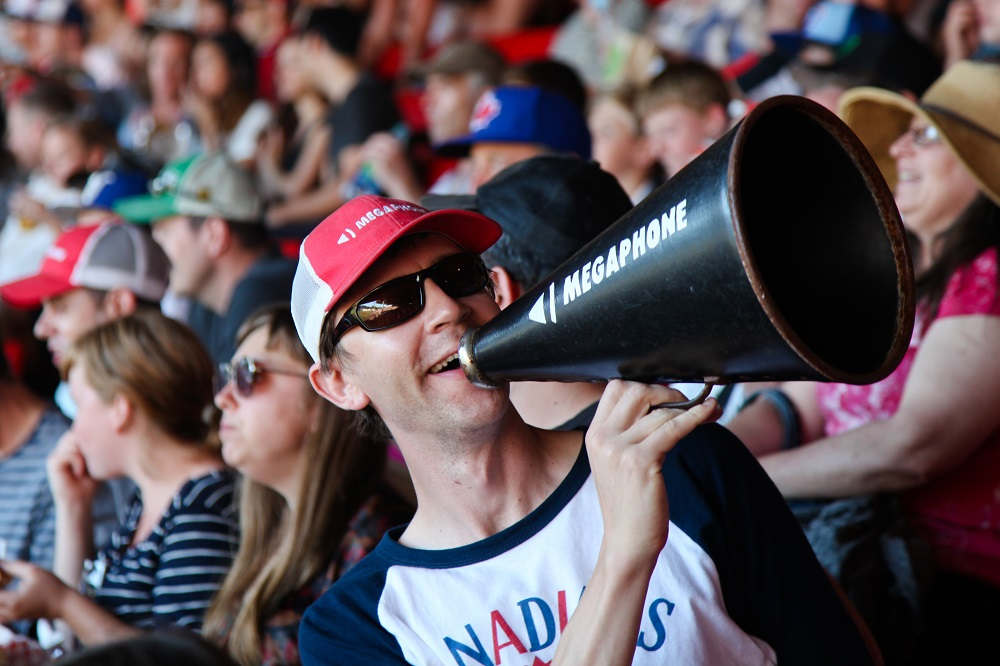 Sean takes the Megaphone title seriously