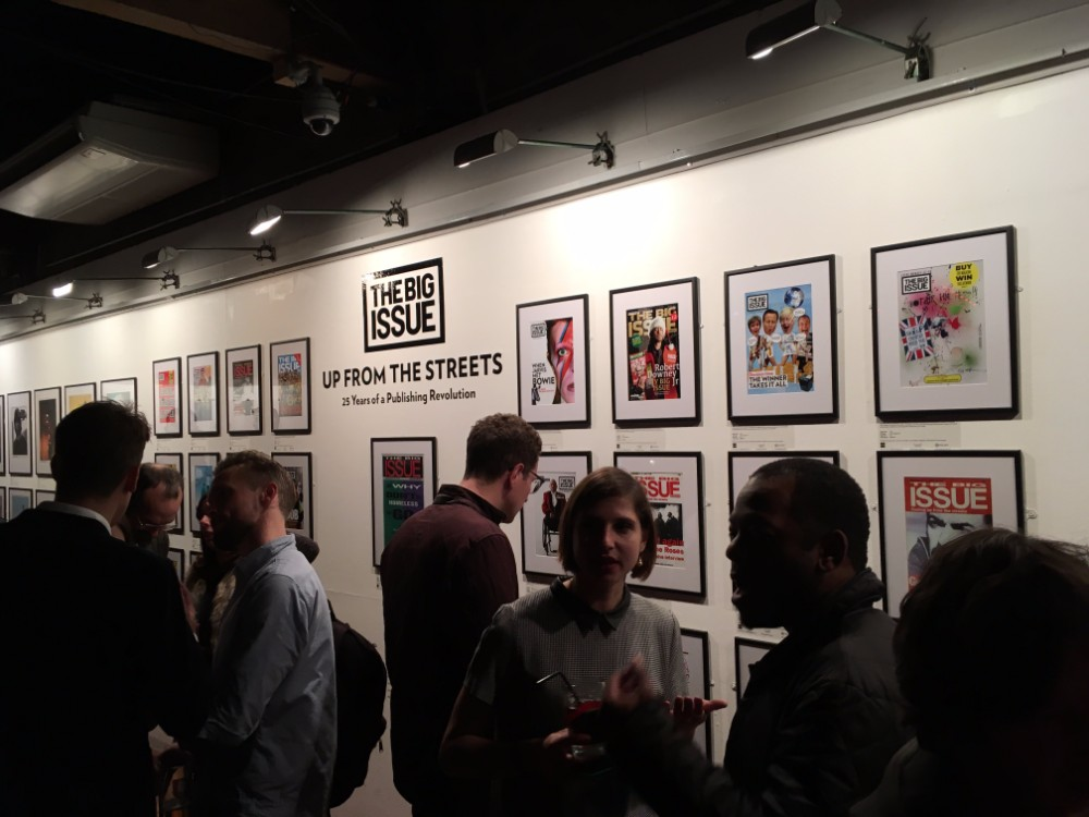 Supporters enjoy The Big Issue's exhibition. Photo: Laura Kelly