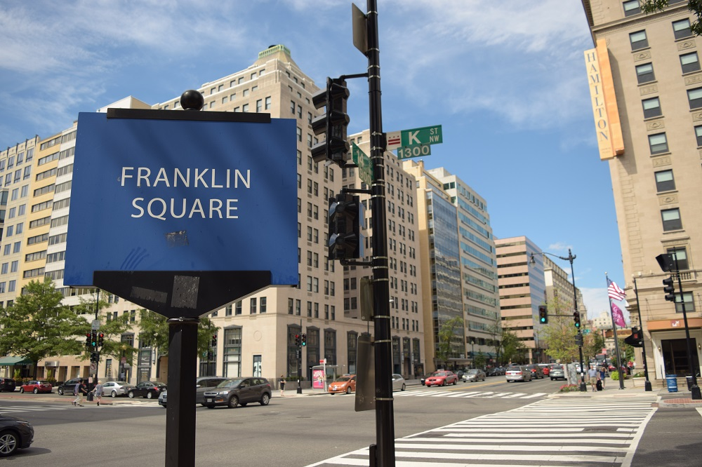 Franklin Square, the location for Don Gardner event. Credit: Elli Bloomberg