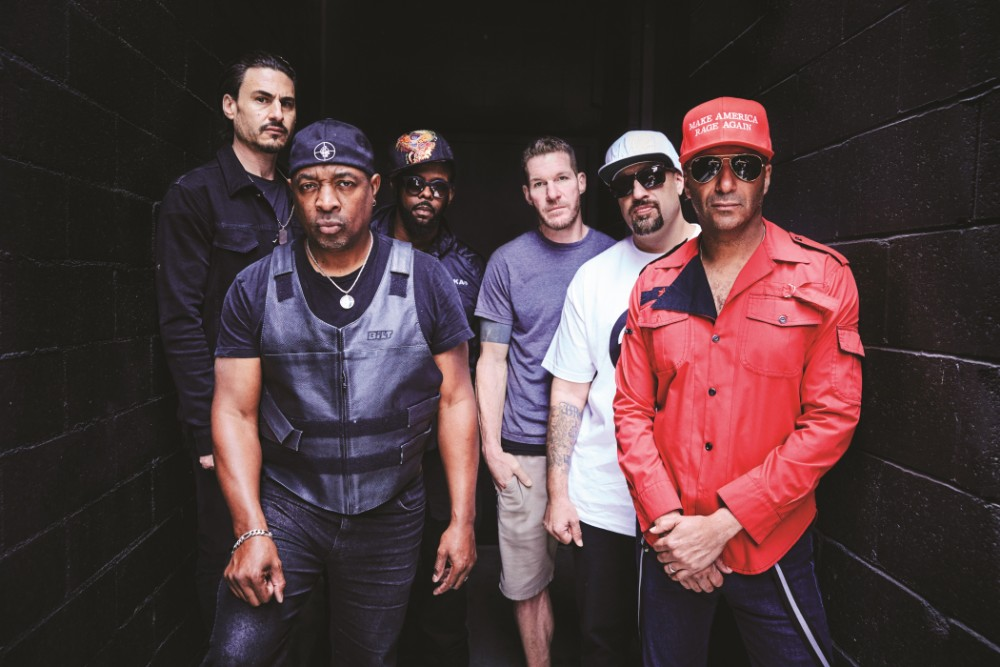 """Prophets of Rage; The """"elite taskforce of revolutionary musicians"""" taking on homelessness issuesCredit: Danny Cinch, Courtesy PMK-BNC"""