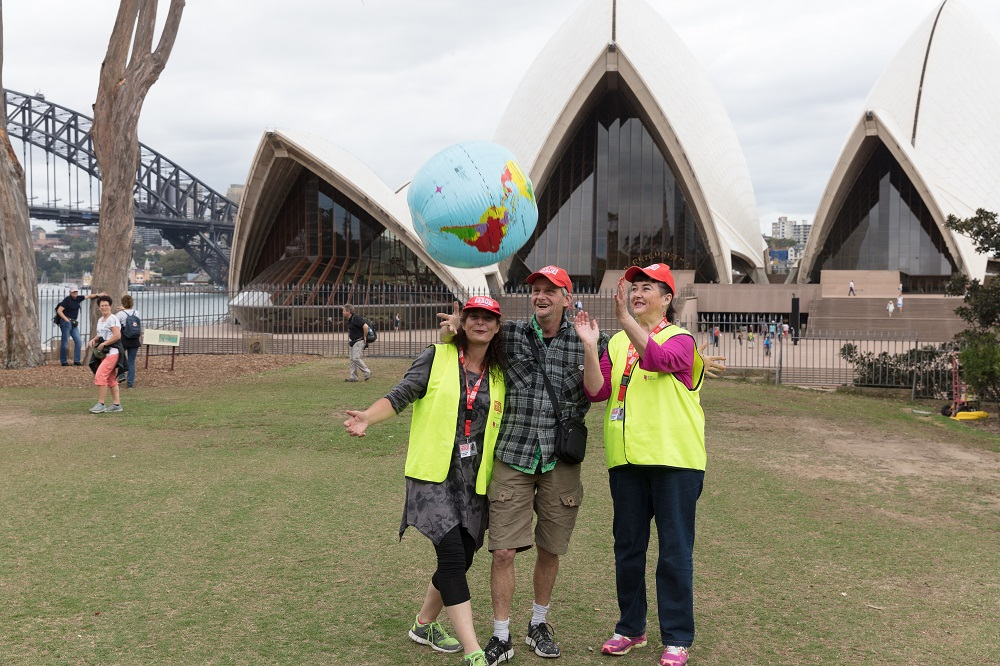 Rachel Dave and Fay from Sydney. Photo by Peter Holcroft.