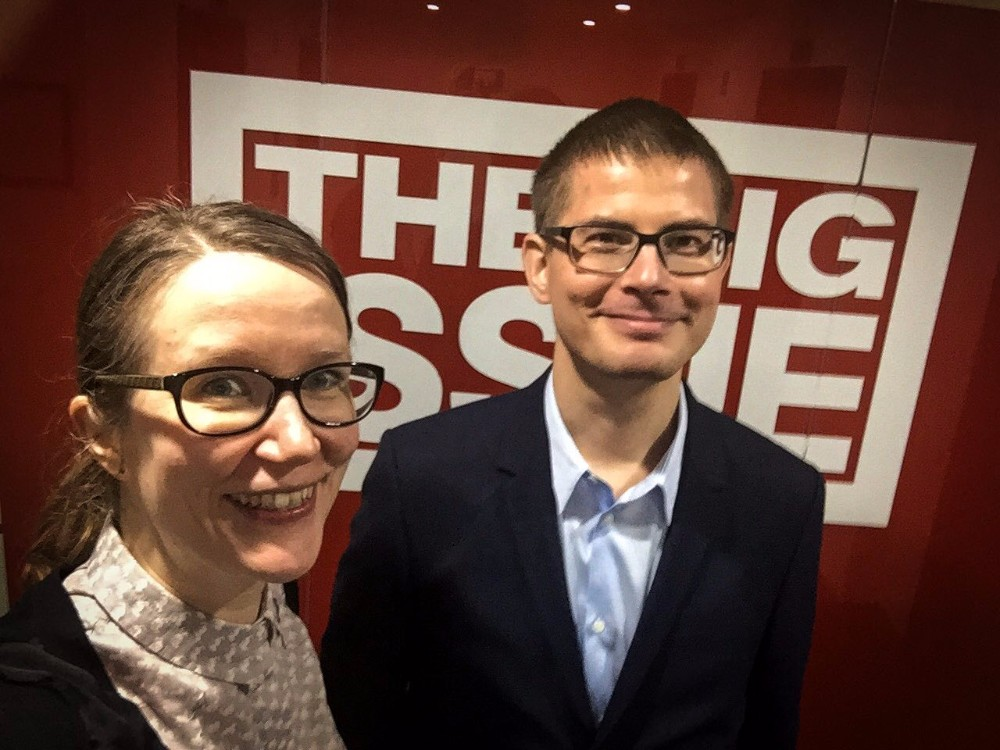 Hannele Huhtala and Janne Hukka from Iso Numero arrive at The Big Issue Australia as part of INSP's Intensive Learning Programme.