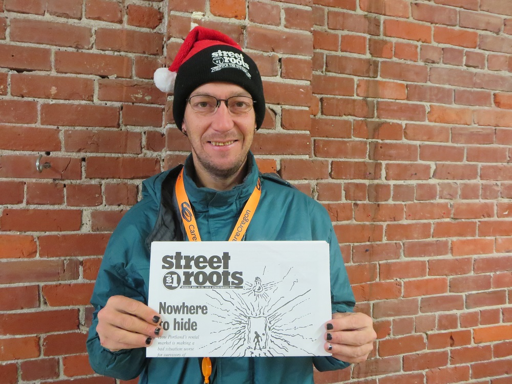 Street Roots vendor Billy Meyer
