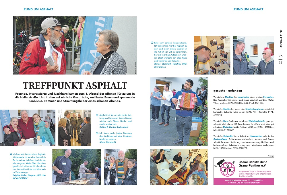 Covrage of the open day in the November issue of Asphalt