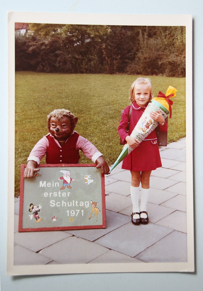 Heidi with the 'Schultüte' on her first day of school
