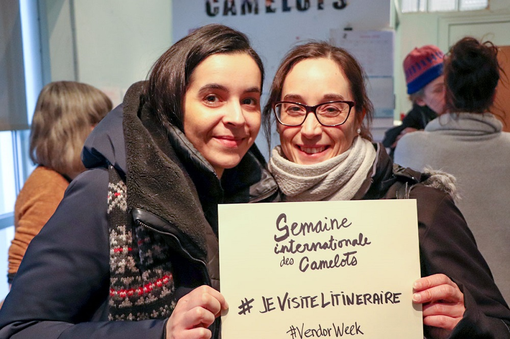 Sophie and Catherine from the non-profit organisation 'La rue des femmes'. Credit: Alexandre Duguay.