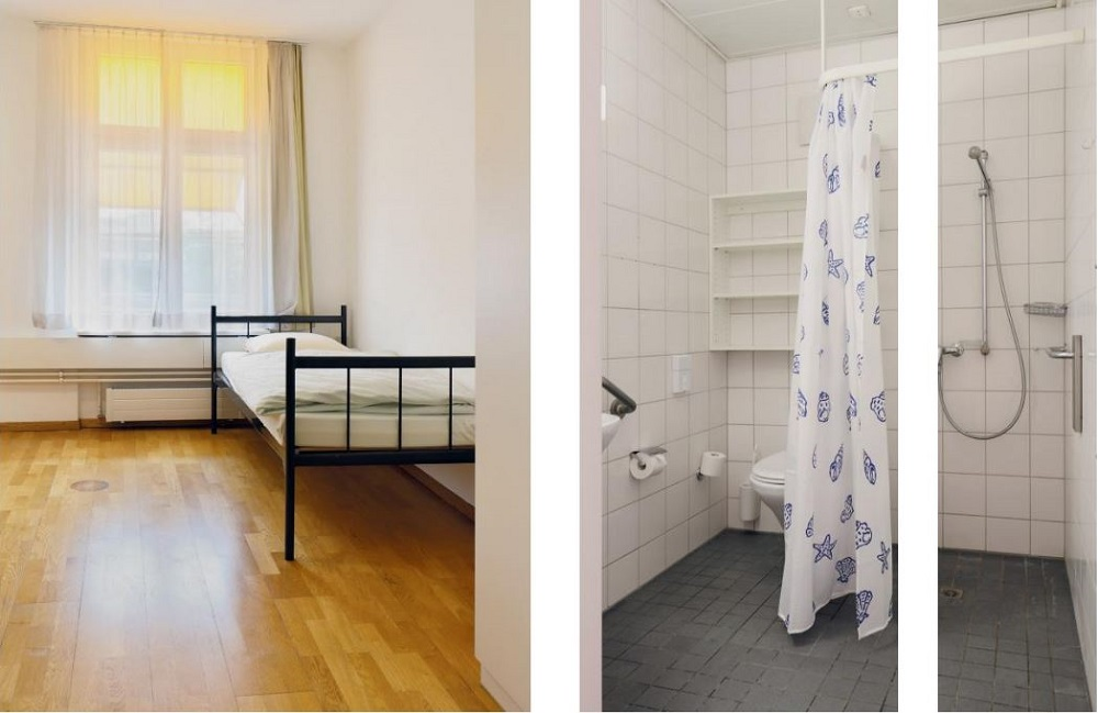 A look inside one of Basel's newly opened women's shelters. (Credit: Flavia Schaub)