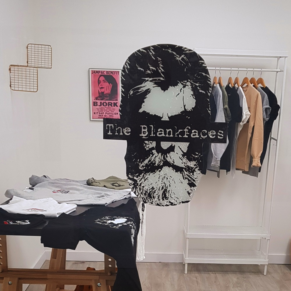 The Blankfaces storefront in Glasgow's Savoy Centre. [Courtesy of The Blankfaces]