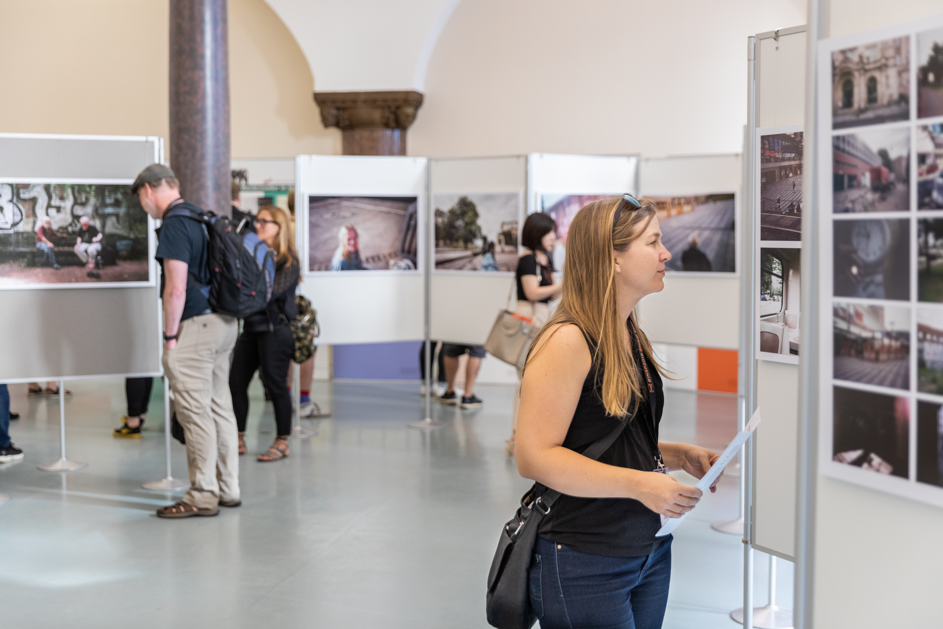 Photo exhibition at the Neues Rathaus during the 2019 Global Street Newspaper Summit in Hannover, Germany 17th June 2019. The summit was co-organised by INSP (International Network of Street Papers) and Asphalt- Hannover street magazine. In 2019 both Aspahlt and INSP celebrate their 25th anniversaries. Credit: Selim Korycki
