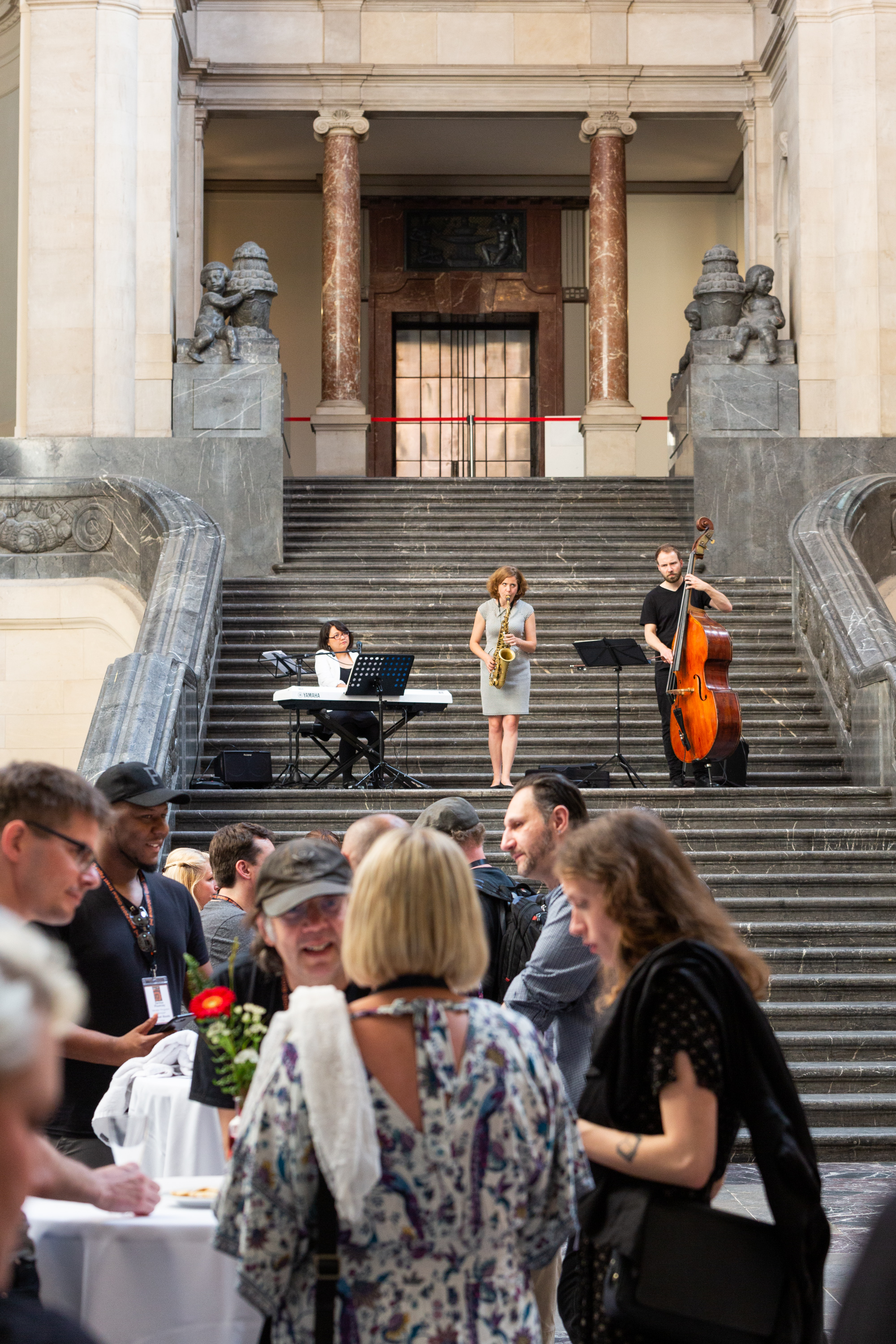 Welcome Reception at the Neues Rathaus during the 2019 Global Street Newspaper Summit in Hannover, Germany 17th June 2019. The summit was co-organised by INSP (International Network of Street Papers) and Asphalt- Hannover street magazine. In 2019 both Aspahlt and INSP celebrate their 25th anniversaries. (Credit: Selim Korycki)