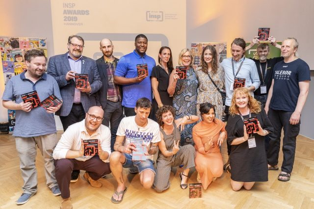 2019: Winners of the 2019 INSP Awards, held in Hannover, Germany. Photo: Selim Korycki.<br>