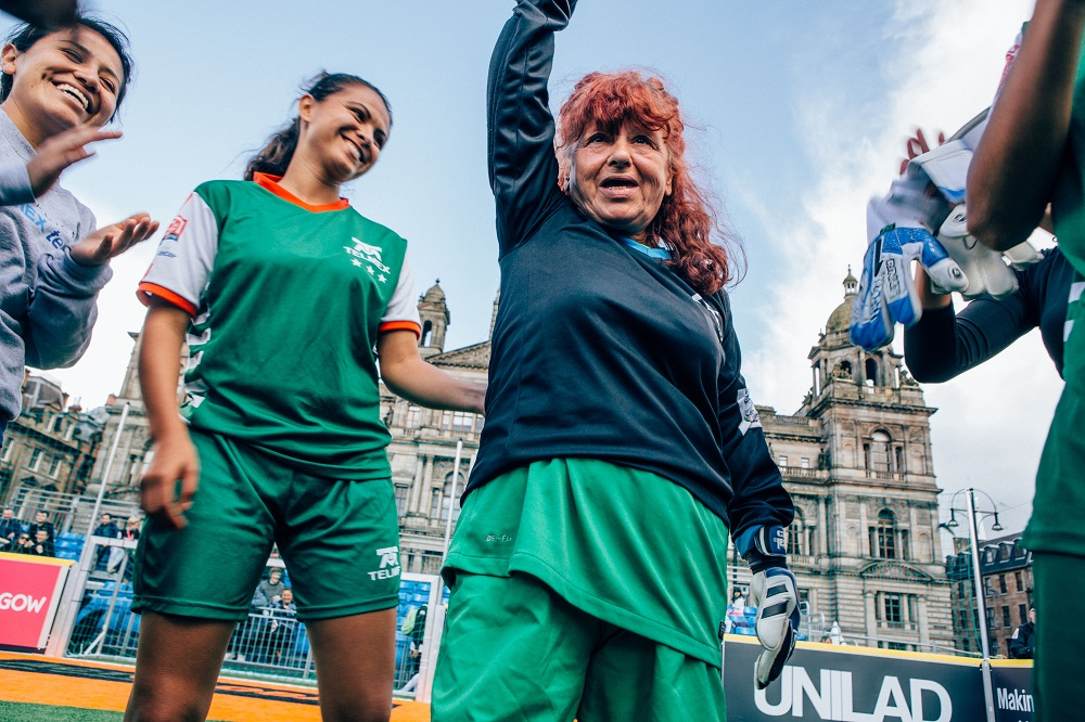 Participants at the 2016 Homeless World Cup held in Glasgow.