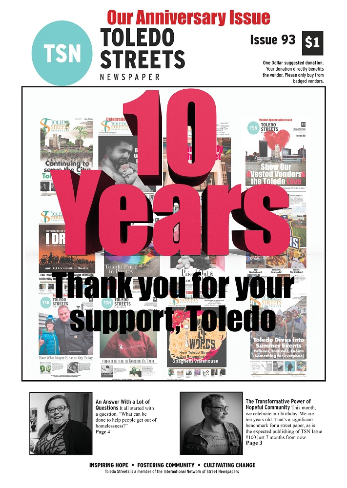 Cover of Toledo Streets 10th anniversary edition.