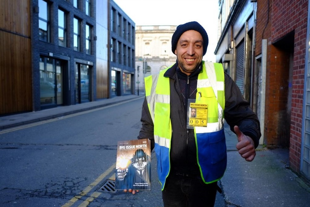 Big Issue North vendor Nicolae