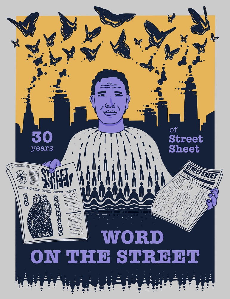 Street Sheet's 30th anniversary edition cover by Alejandro Delacosta