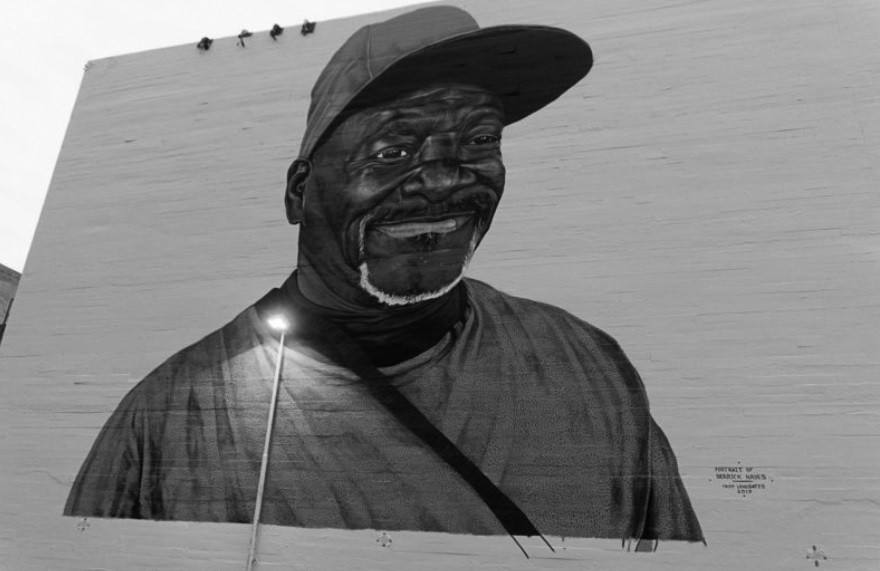 Hayes' mural in Downtown Oakland. [Credit: Alastair Boone]