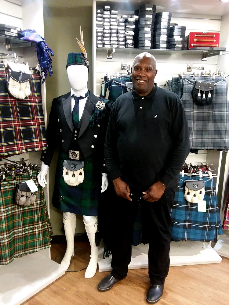 Street Sense vendor Wendell when he visited Glasgow for the 2018 INSP Summit.
