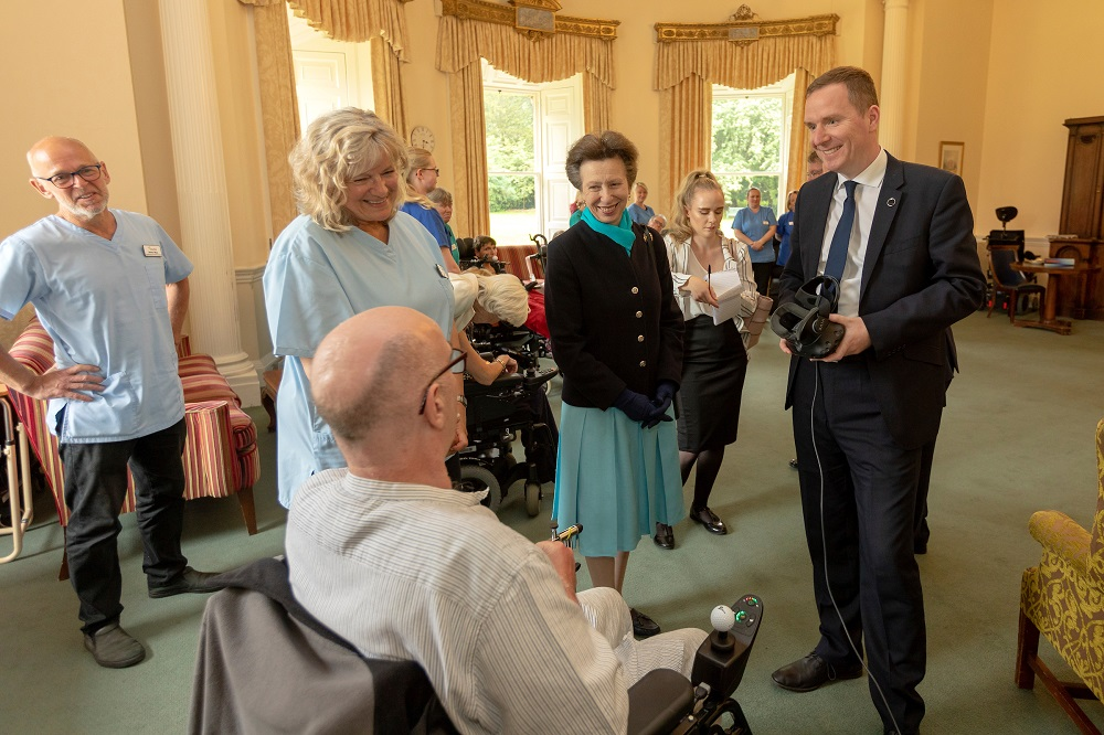 Princess Anne visits Leuchie House healthcare facility with Viarama's Billy Agnew. [Photo by Malcolm McCurrach]