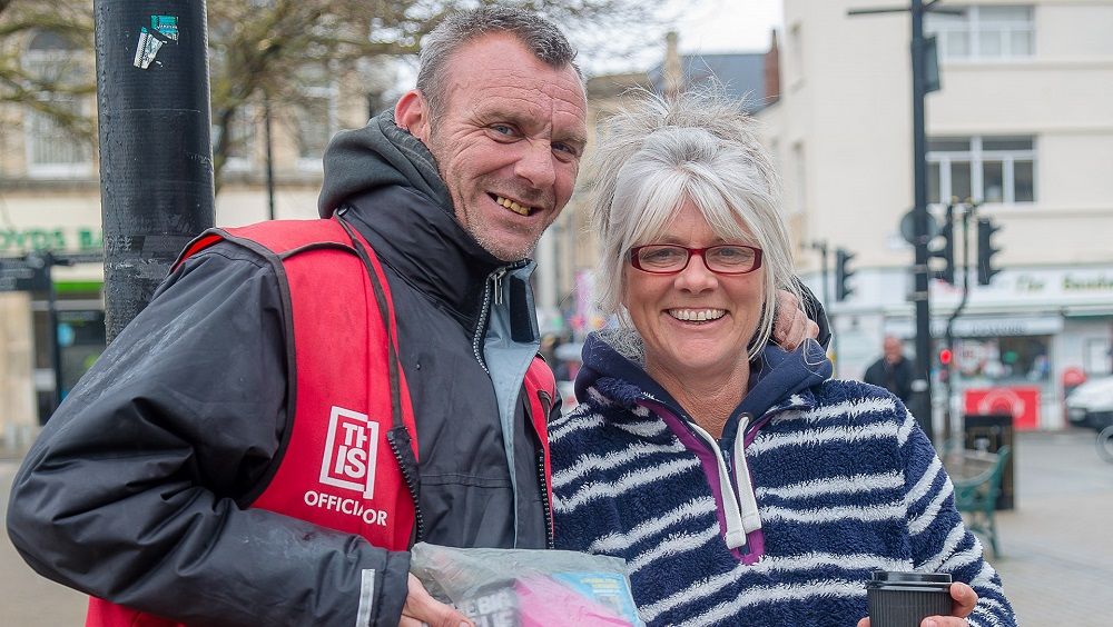 Big Issue vendor Robin. [Photo courtesy of The Big Issue UK]