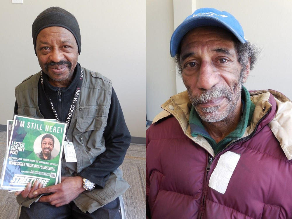 StreetWise vendors Lester Cherry (left) and Merv Sims (right)