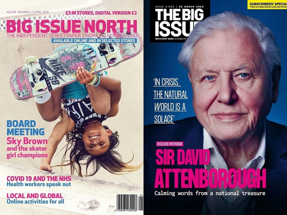 The first editions of Big Issue North and The Big Issue to be sold in stores