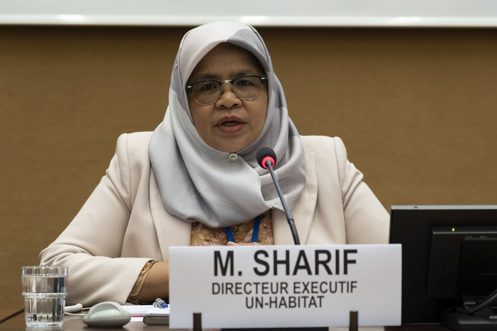 Maimunah Mohd Sharif, United Nations Under-Secretary-General and Executive Director of UN-Habitat, speaking at The Group 77 & China meeting organized on 6 may 2019 in Geneva with UNCTAD and UN-Habitat. [Credit: UNCTAD]