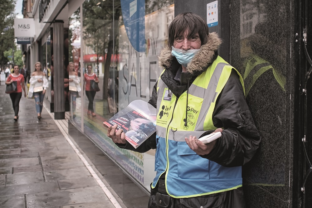 Big Issue North vendor Will. [Credit: Andy Lynch]