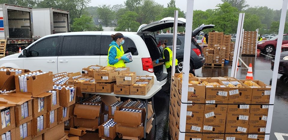 Direct to Community - MontCo Anti-Hunger Network direct to community distributions of Farmers to Families food boxes in Montgomery County PA occurring during May and June of 2020. During this time, 25,500 boxes totaling 378,750 pounds and valued at $706,965 were given away. [Courtesy of MontCo Anti-Hunger Network]