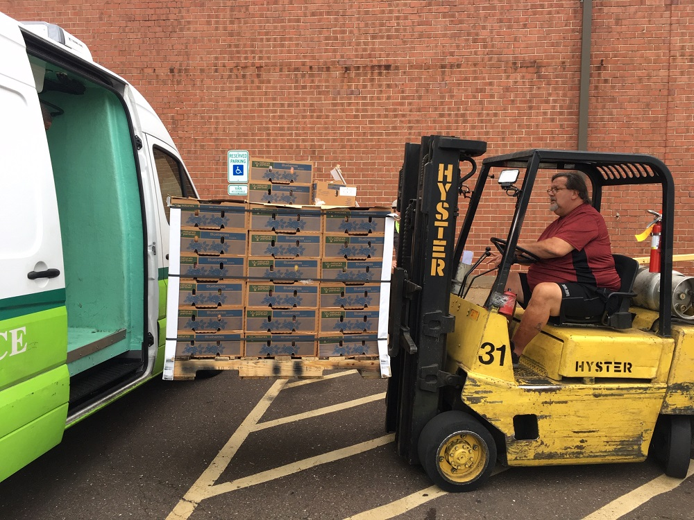 Direct to Food Pantry - Over eight weeks in July and August of 2020, MontCo Anti-Hunger Network delivered 22,424 boxes totaling 272,296 pounds and valued at $393,328 to community food pantries. [Courtesy of MontCo Anti-Hunger Network]