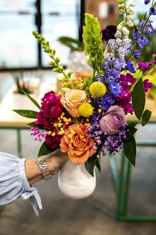 A finished bouquet. [Credit: Nathan Poppe. The Curbside Chronicle]