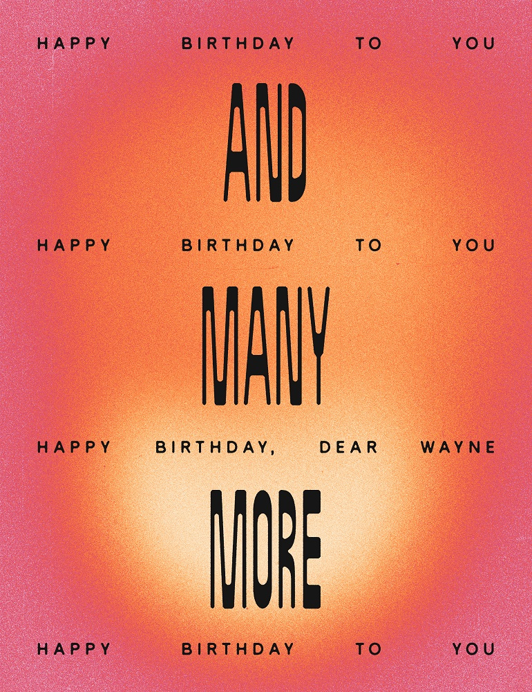Wayne Coyne's choice - 'Happy Birthday' by Patty S. Hill and Mildred J. Hill. [Illustration by J.D. Reeves]