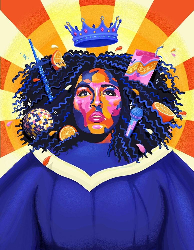 Curbside vendor Roderick Crystal's choice - 'Juice' by Lizzo. [Illustration by Maisie Cross]